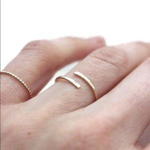 Hammered Wrap Ring - now in all 3 colors!